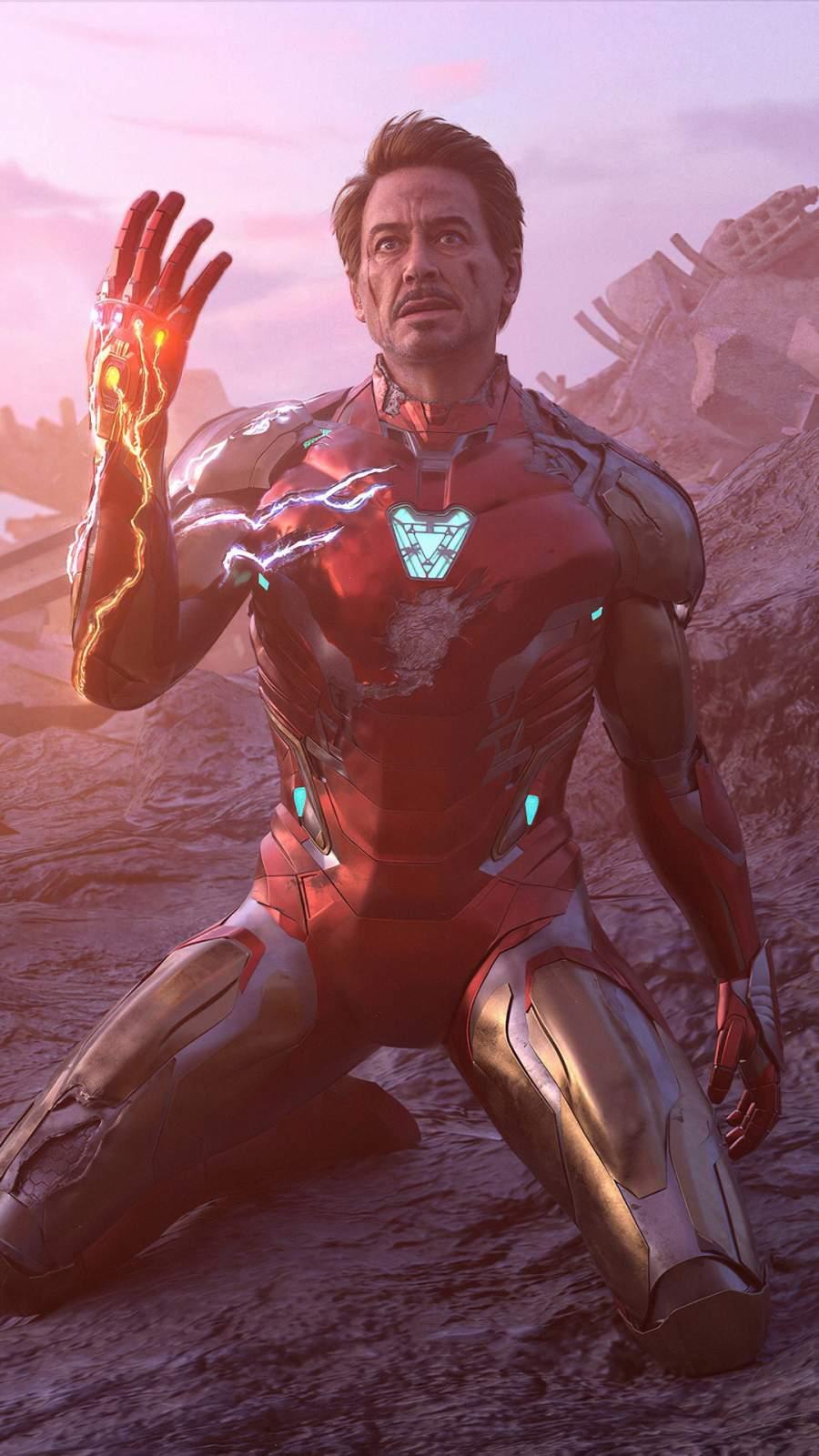 Iron Man Sacrifice iPhone Wallpaper