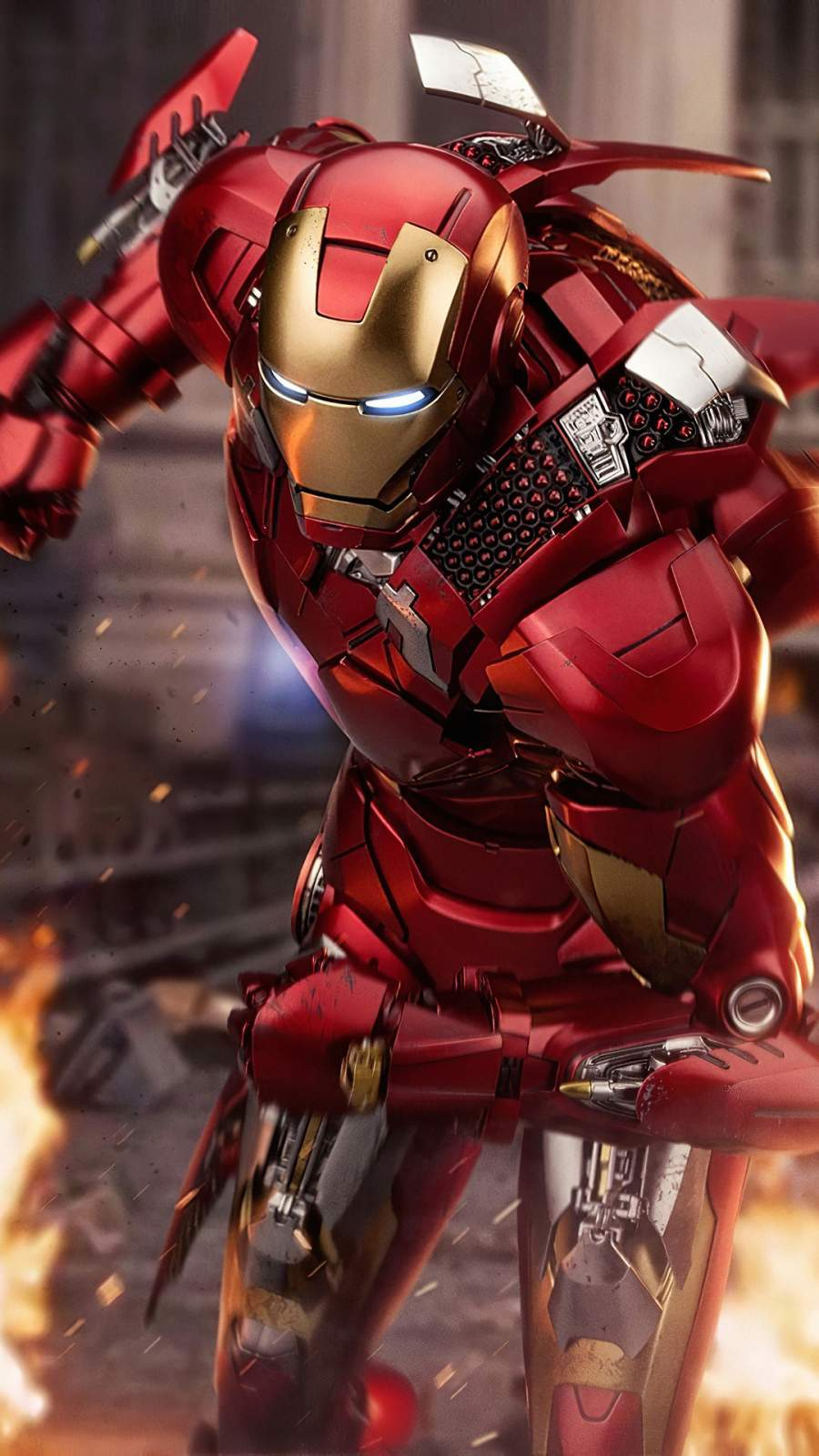 Iron Man Weapons 4K iPhone Wallpaper