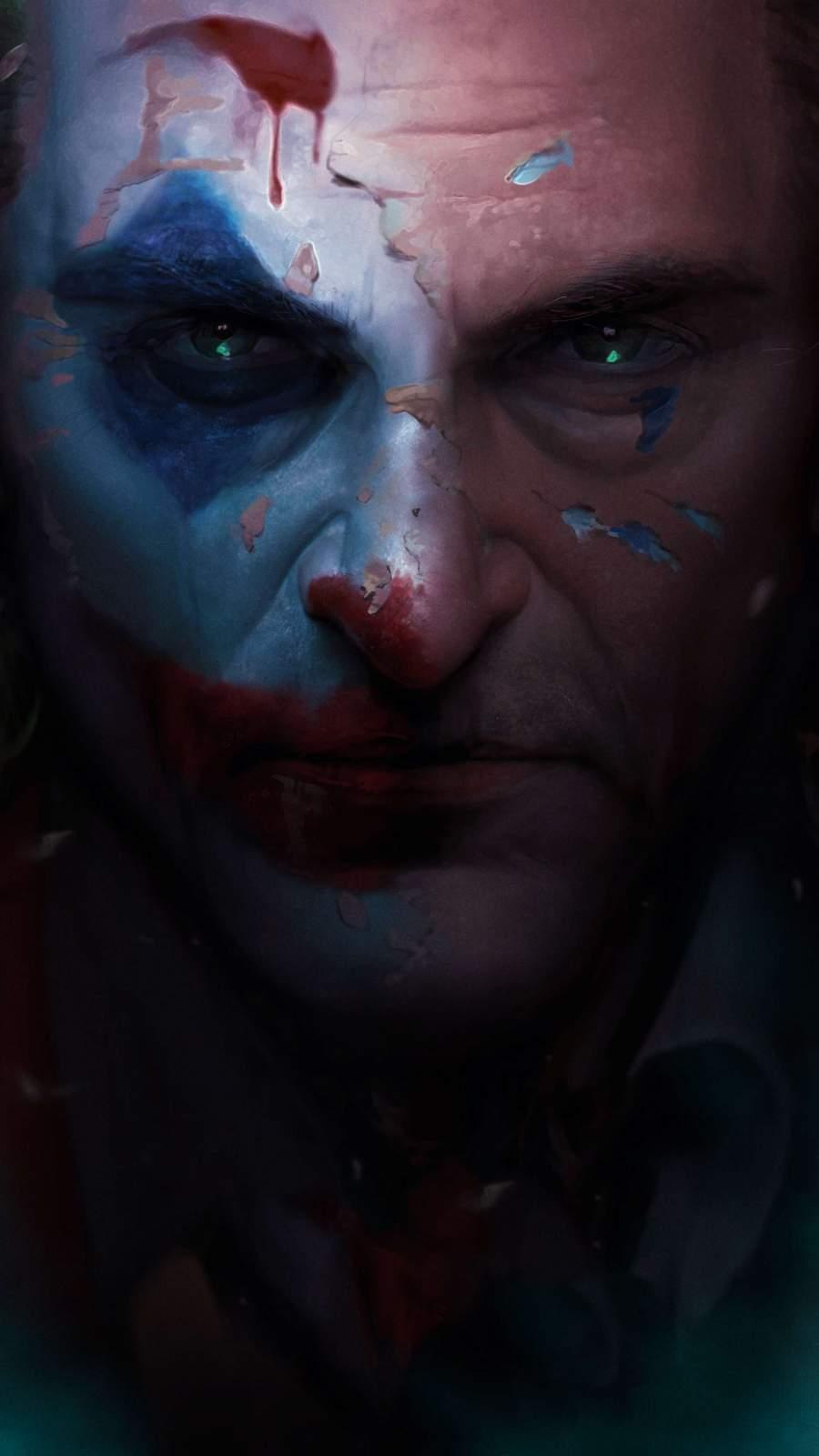 Joker Closeup Art iPhone Wallpaper