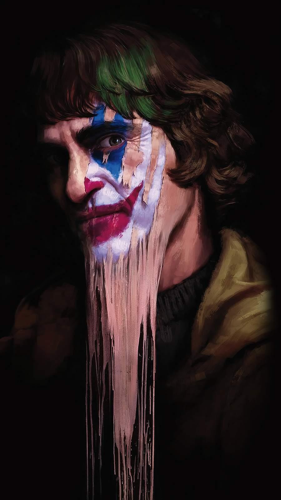 Joker Face Art iPhone Wallpaper