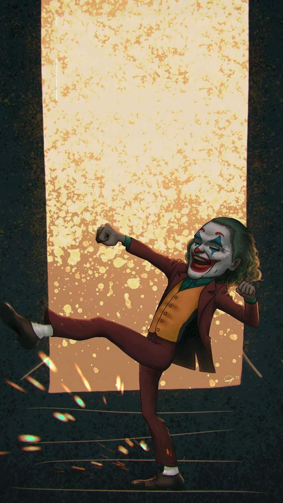 Joker Laughter iPhone Wallpaper