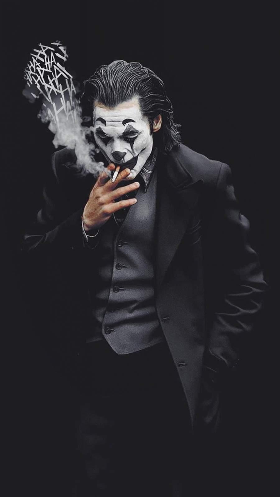 Joker Smoke Laugh iPhone Wallpaper