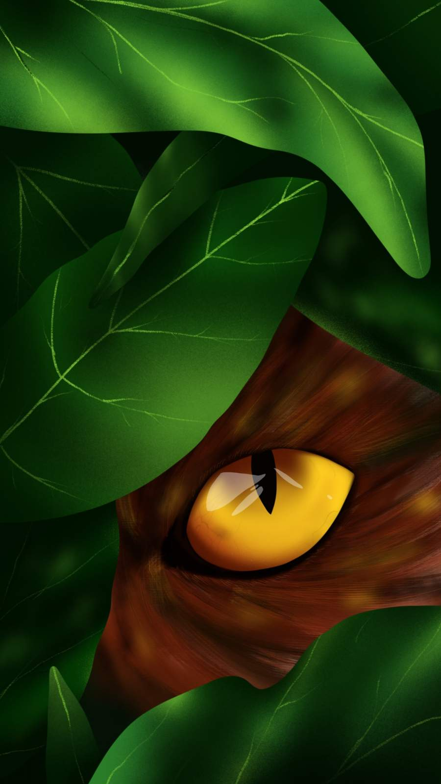 Jungle Eyes iPhone Wallpaper