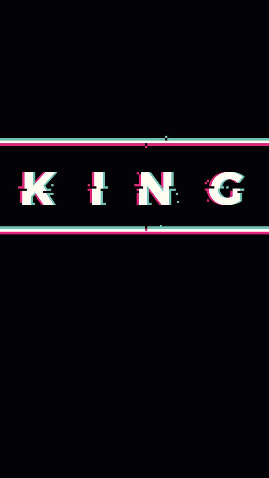 King Glitch iPhone Wallpaper