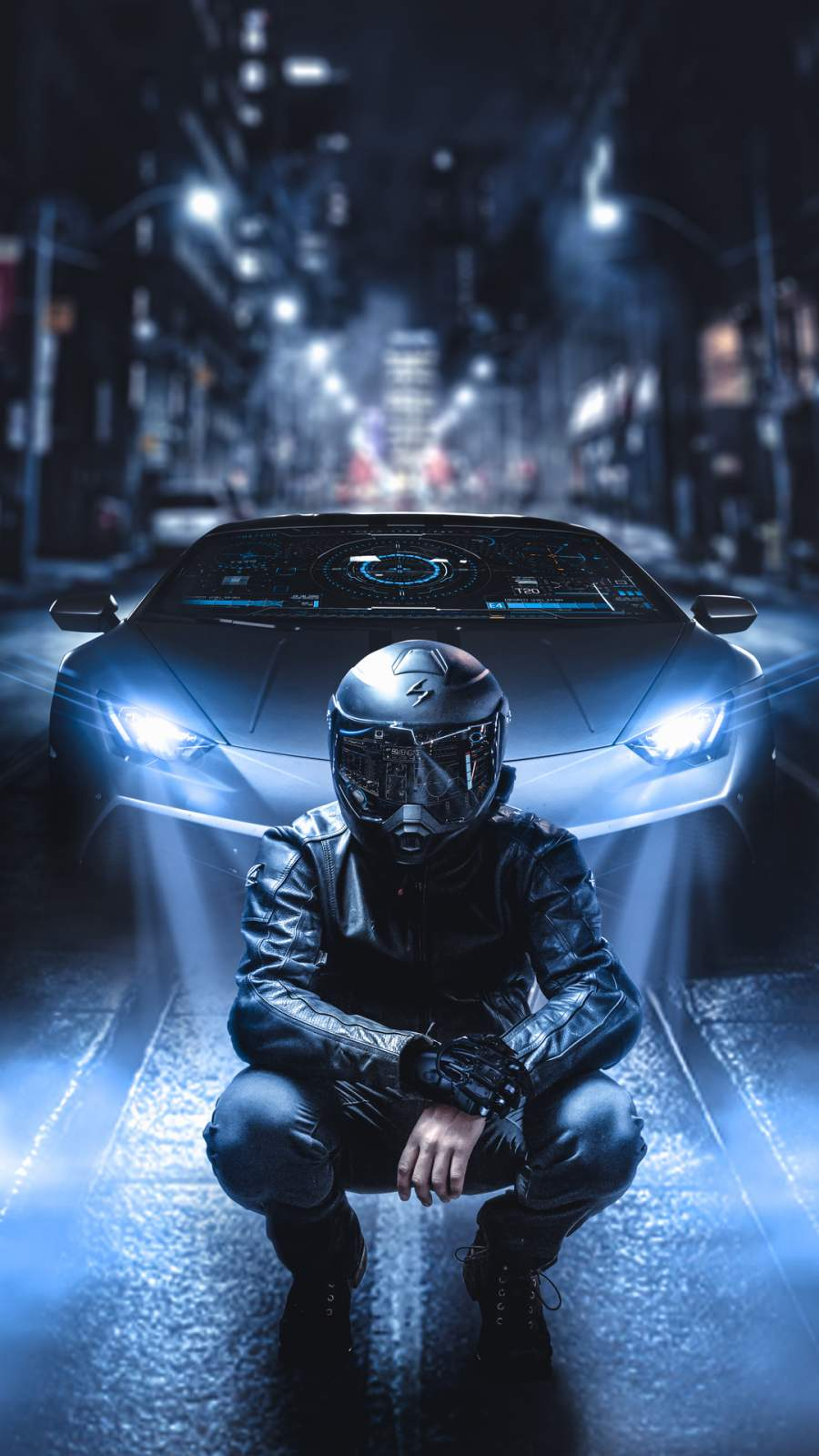 Lamborghini Rider iPhone Wallpaper