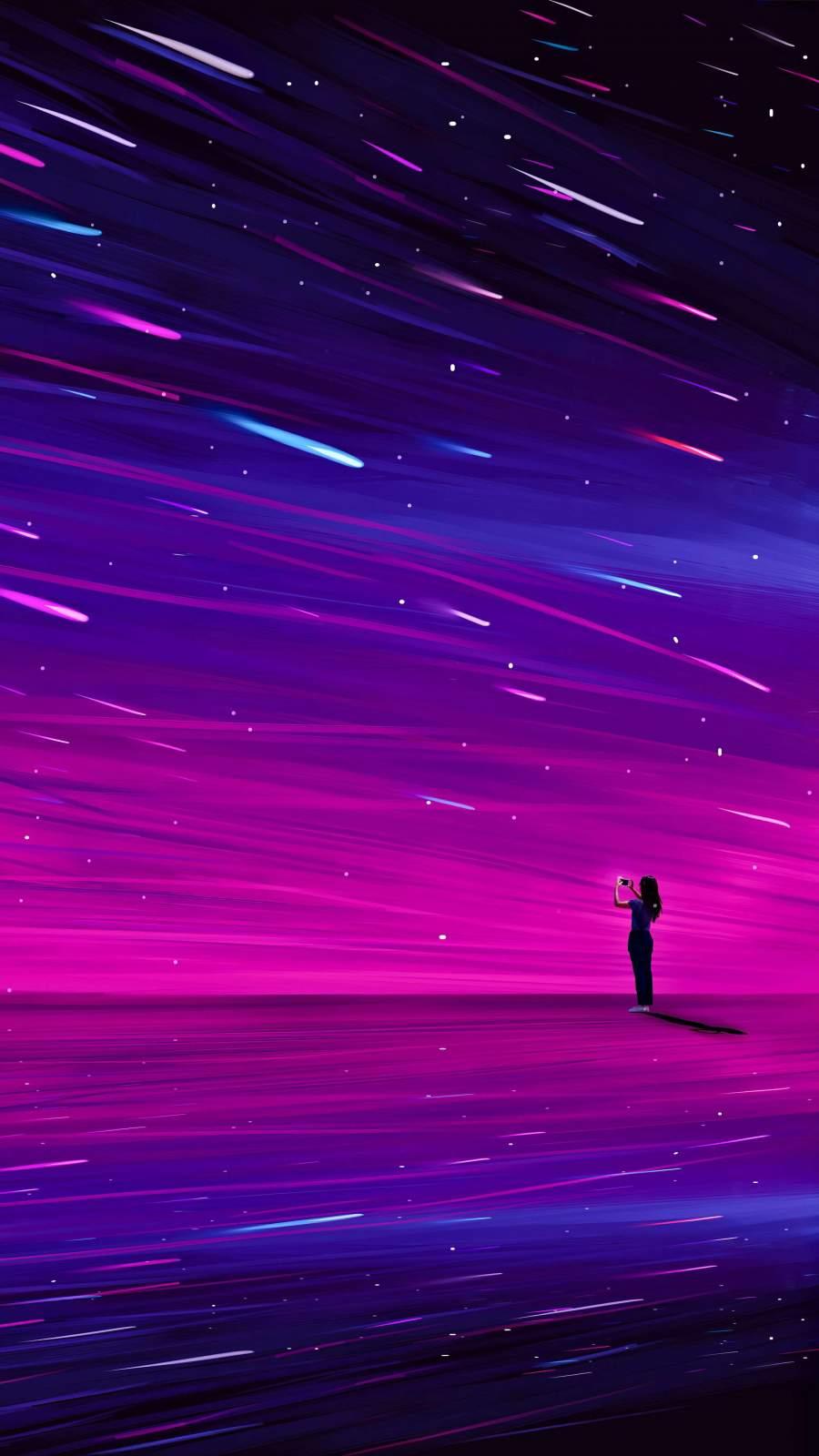 Light Speed Star Travel iPhone Wallpaper