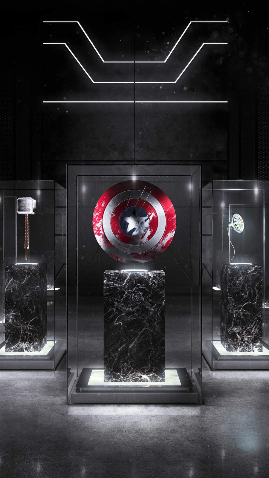 Marvel Superhero Museum iPhone Wallpaper