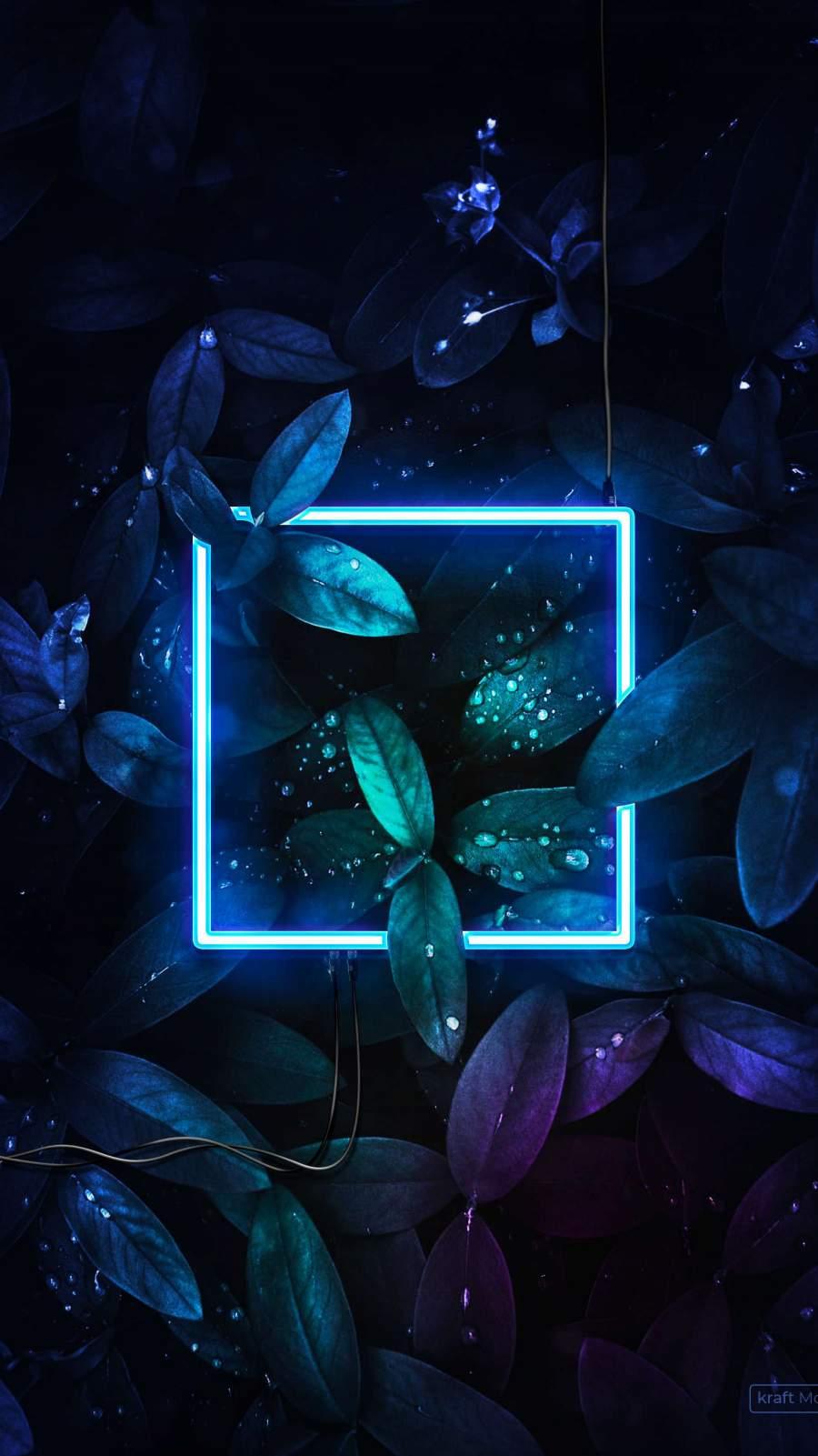 Neon Nature iPhone Wallpaper