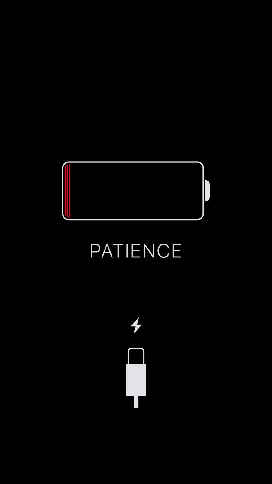 Patience iPhone Wallpaper