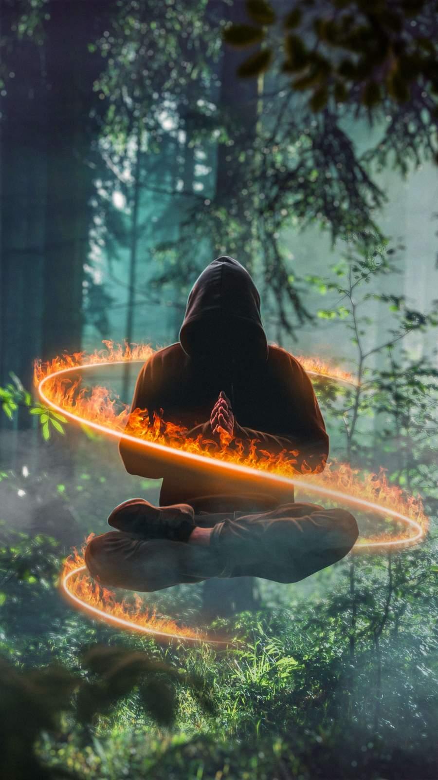 Power of Meditation iPhone Wallpaper