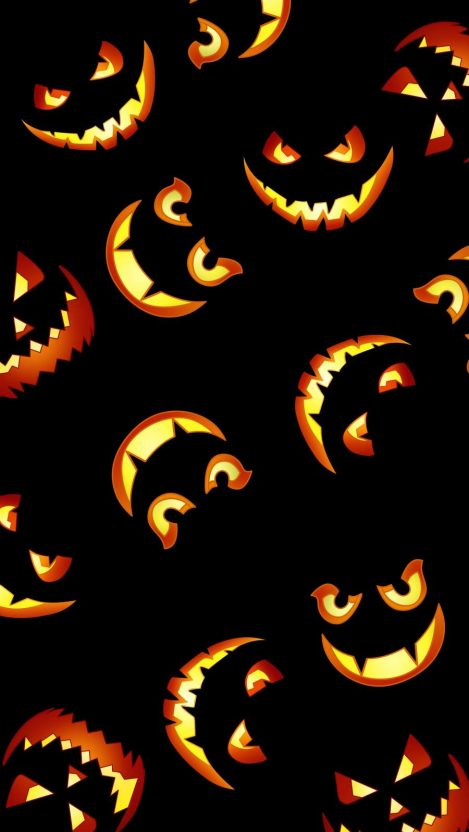 Pumpkin Faces iPhone Wallpaper