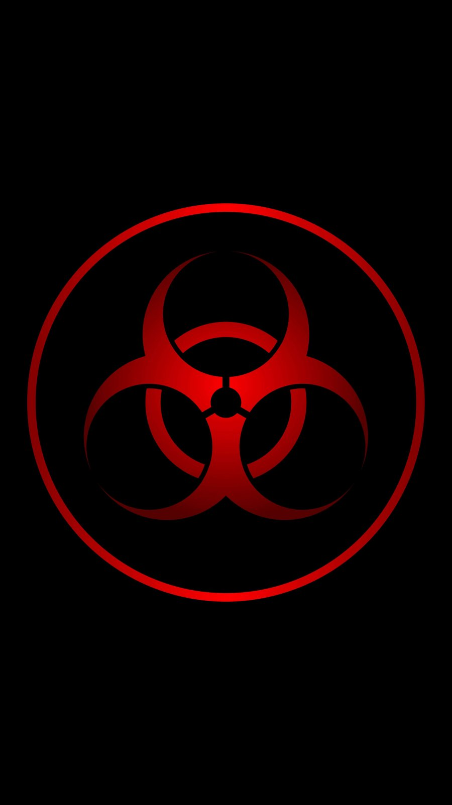 Red Biohazard iPhone Wallpaper