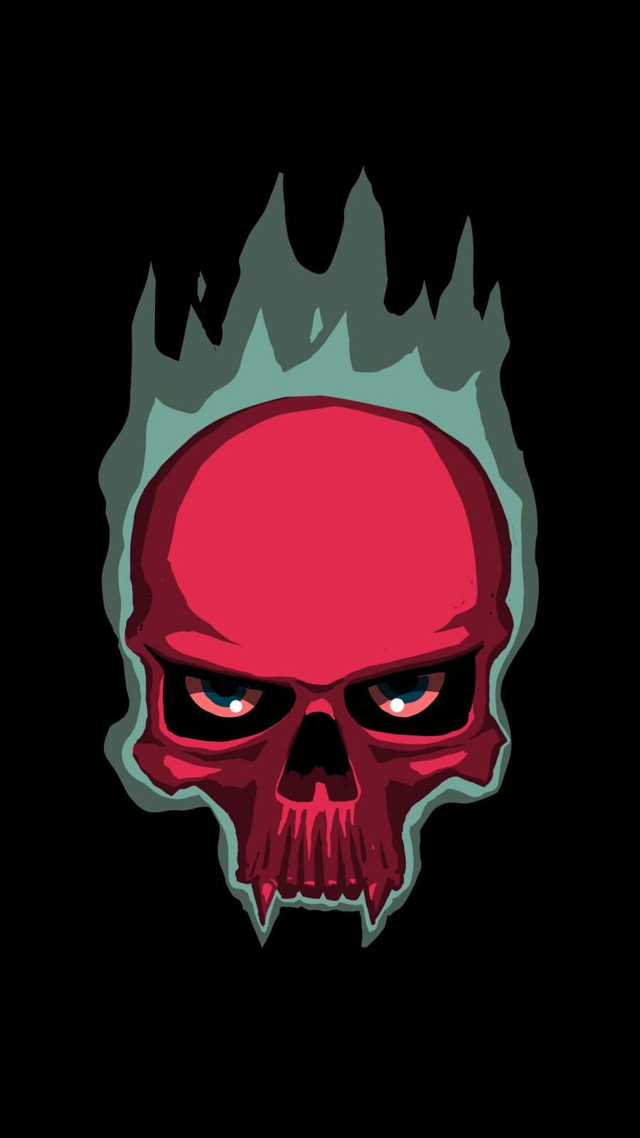 Red Skull iPhone Wallpaper