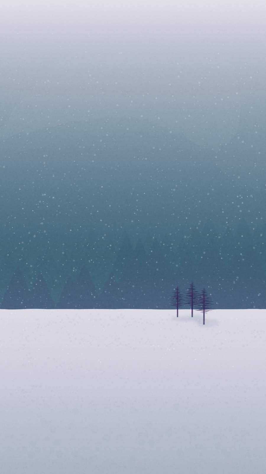 Snow Minimal iPhone Wallpaper
