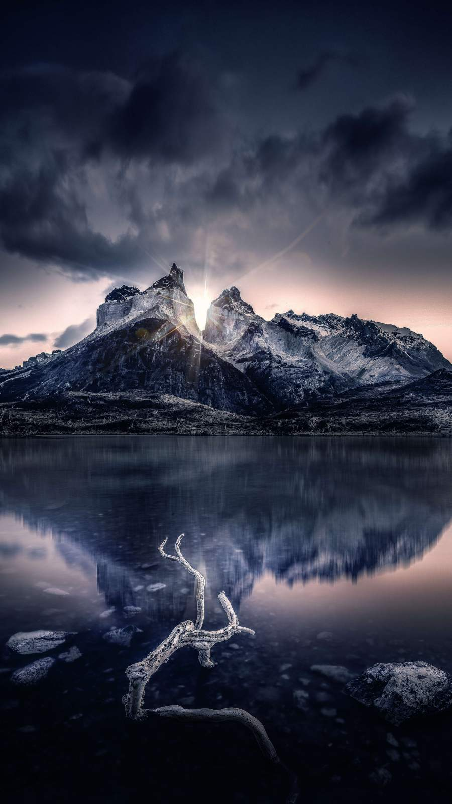 Snow Mountain Reflection iPhone Wallpaper