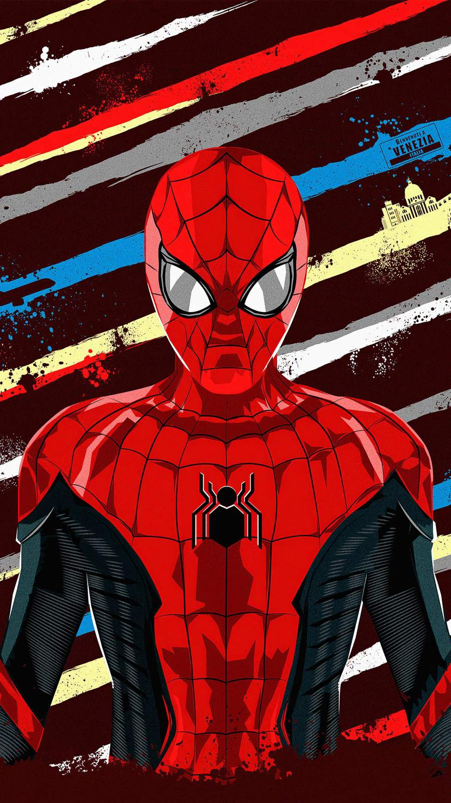 Spiderman Artwork iPhone Wallpaper