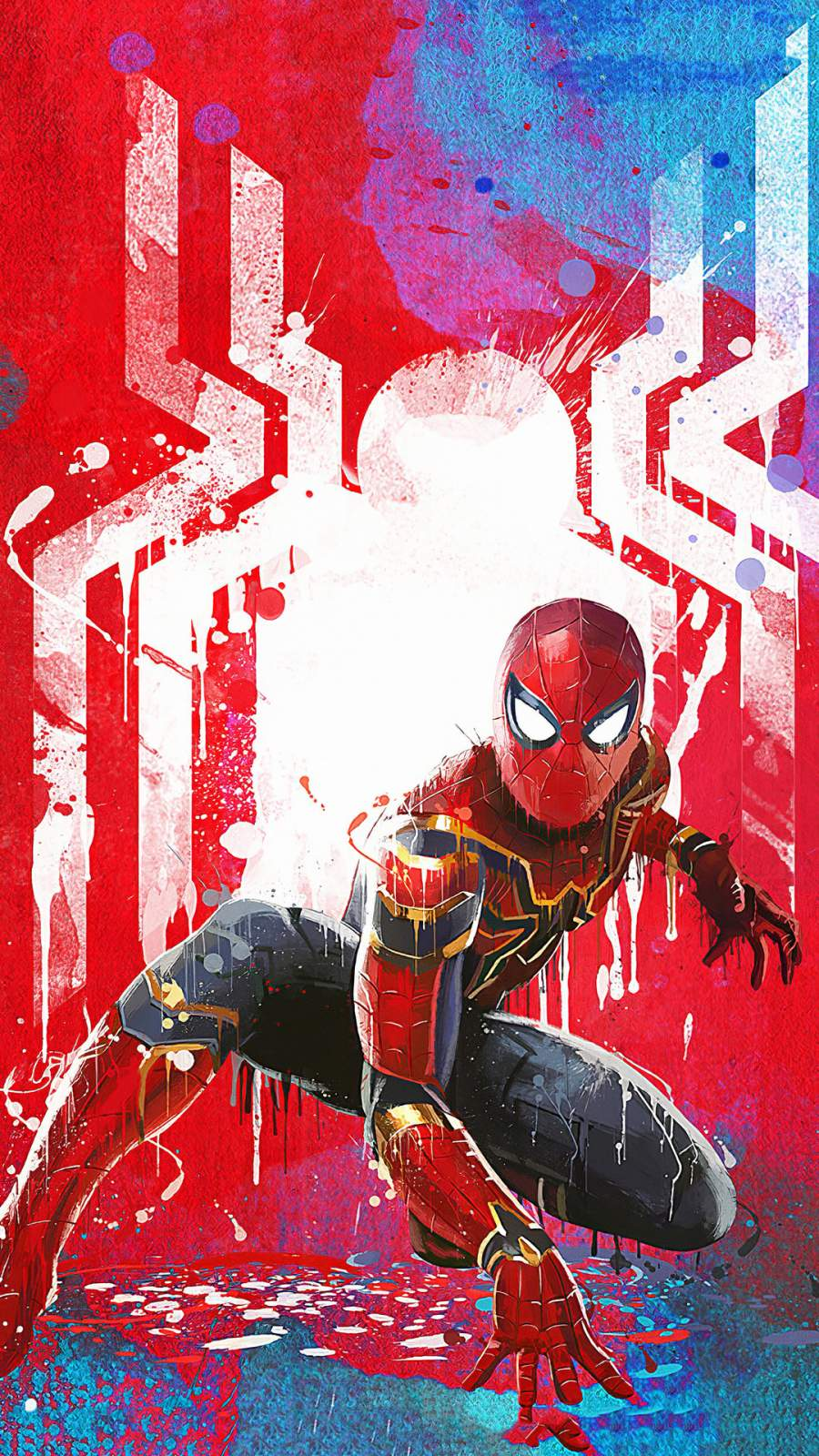 Spiderman Paint Art iPhone Wallpaper