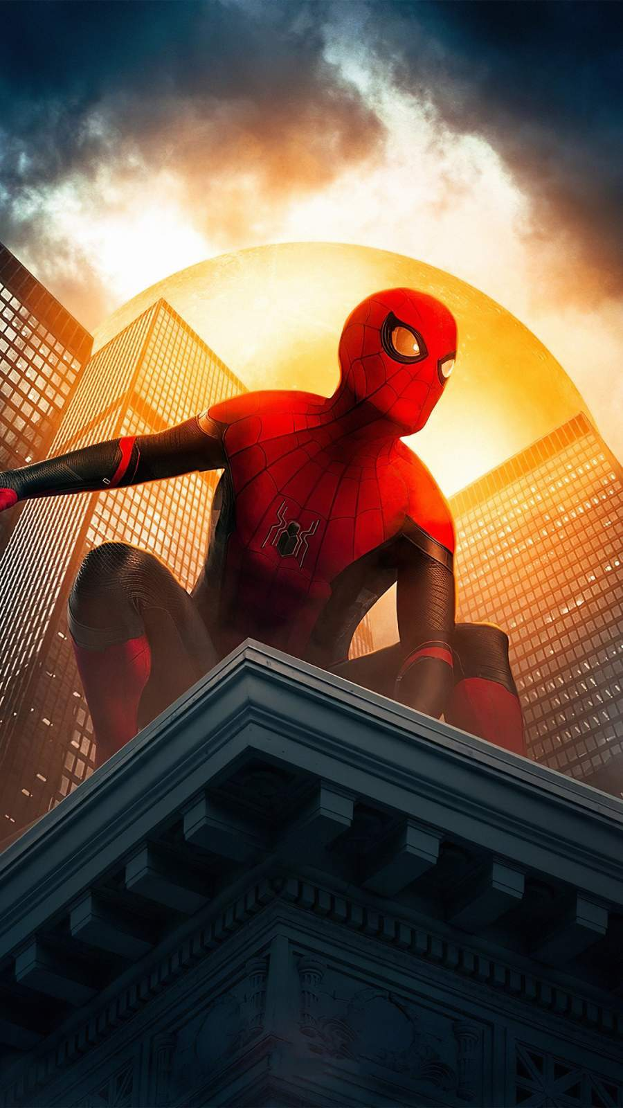 Spiderman in New York iPhone Wallpaper
