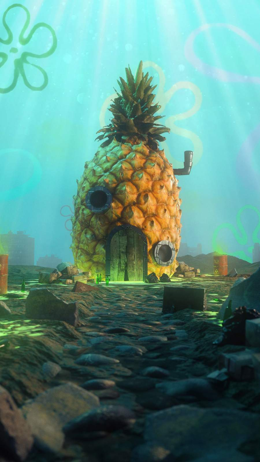 Spongebob House iPhone Wallpaper