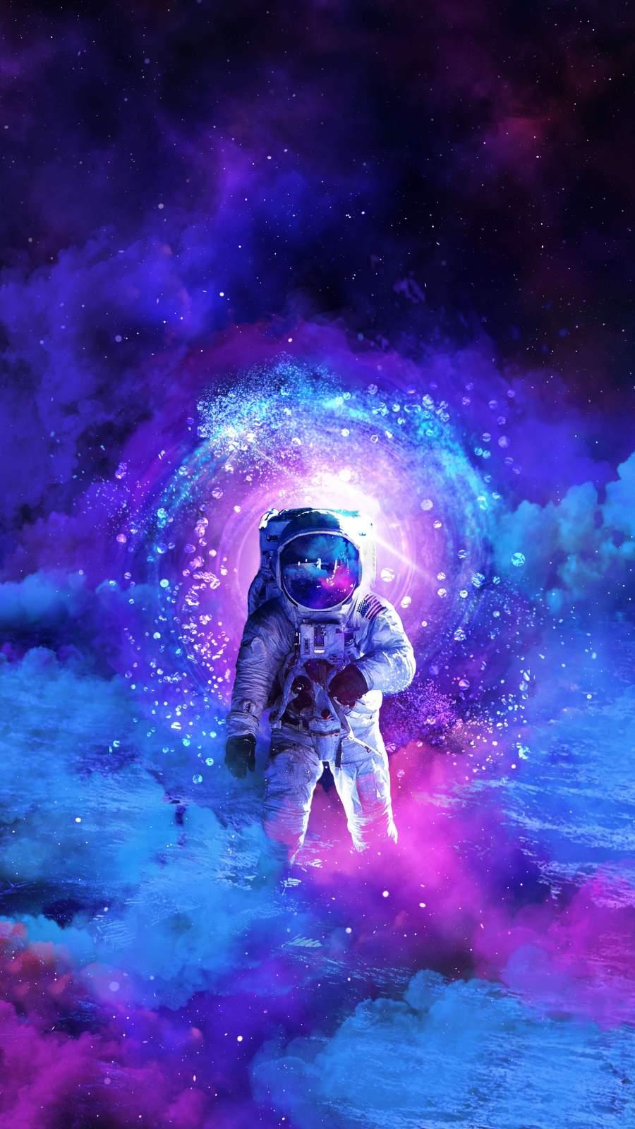The Cosmonaut iPhone Wallpaper