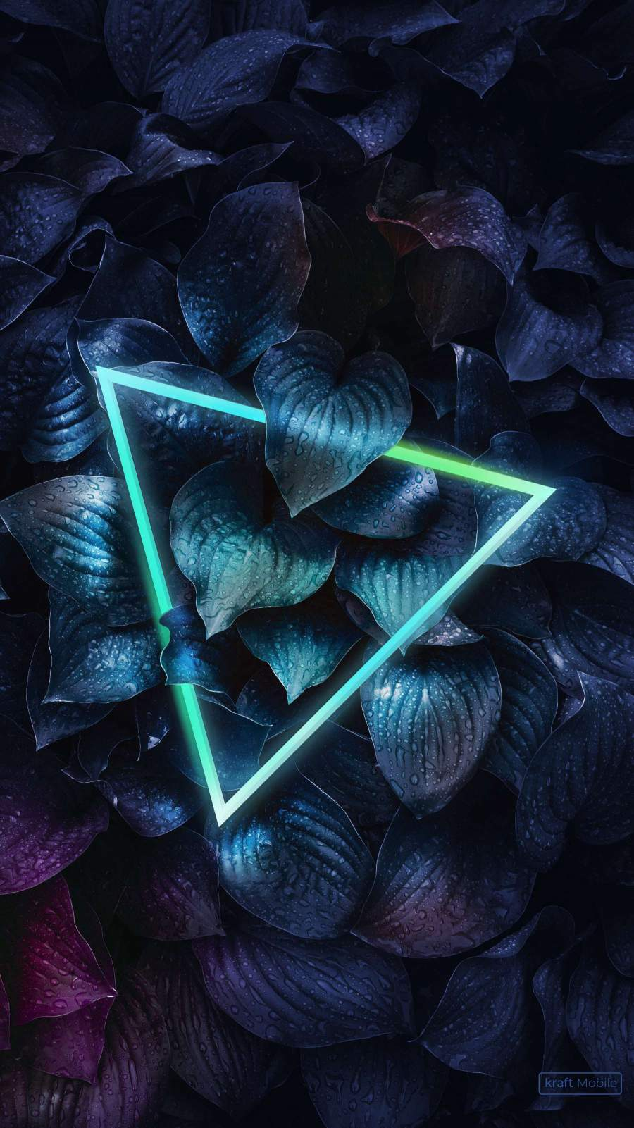 Triangle Neon Forest iPhone Wallpaper