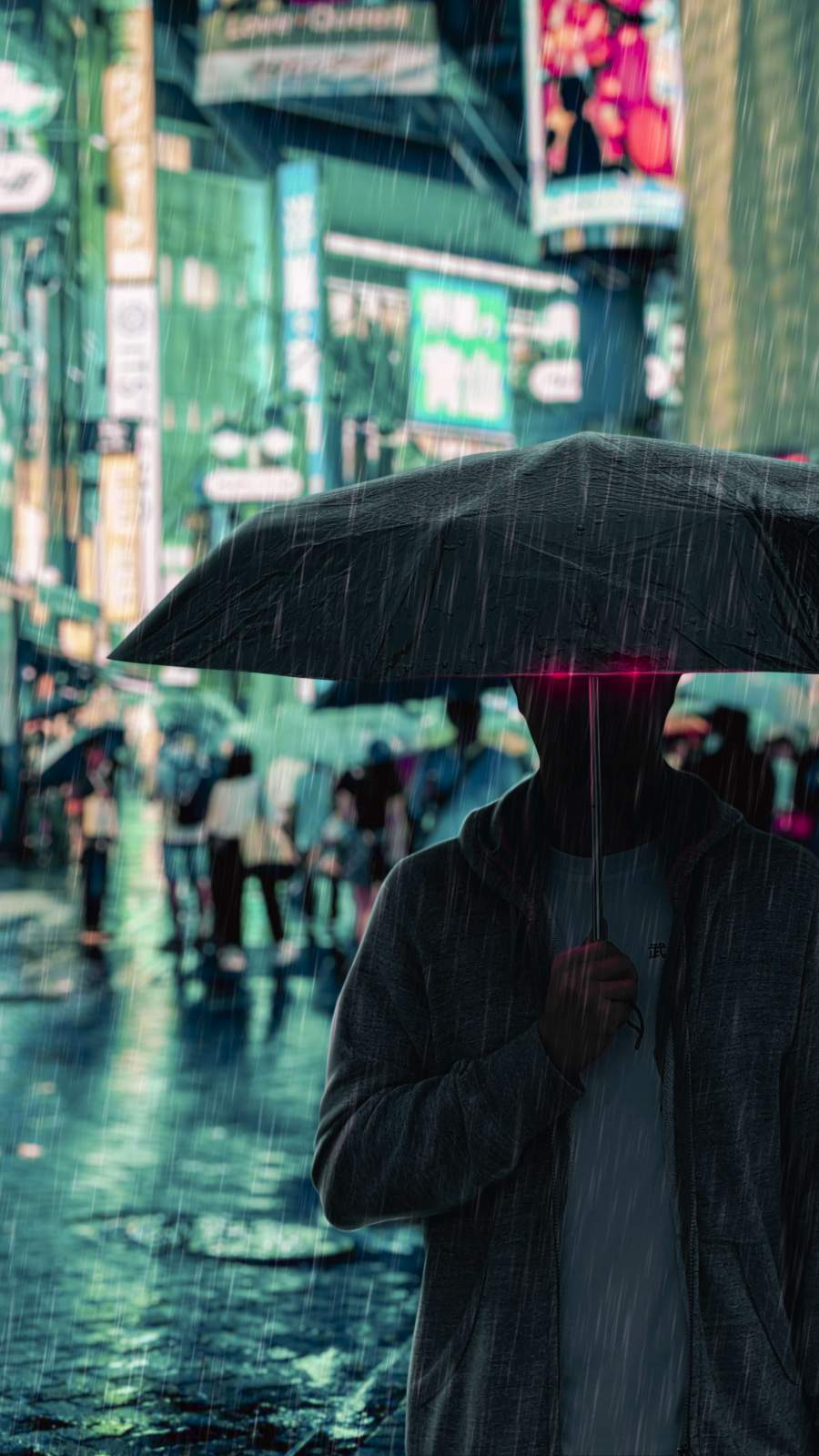 Under The Rain iPhone Wallpaper