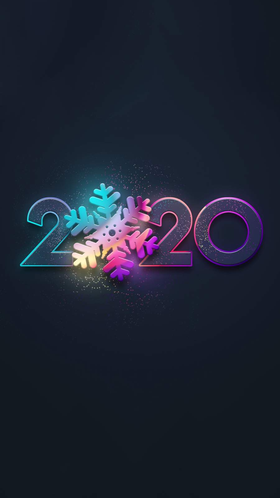 2020 New Year iPhone Wallpaper
