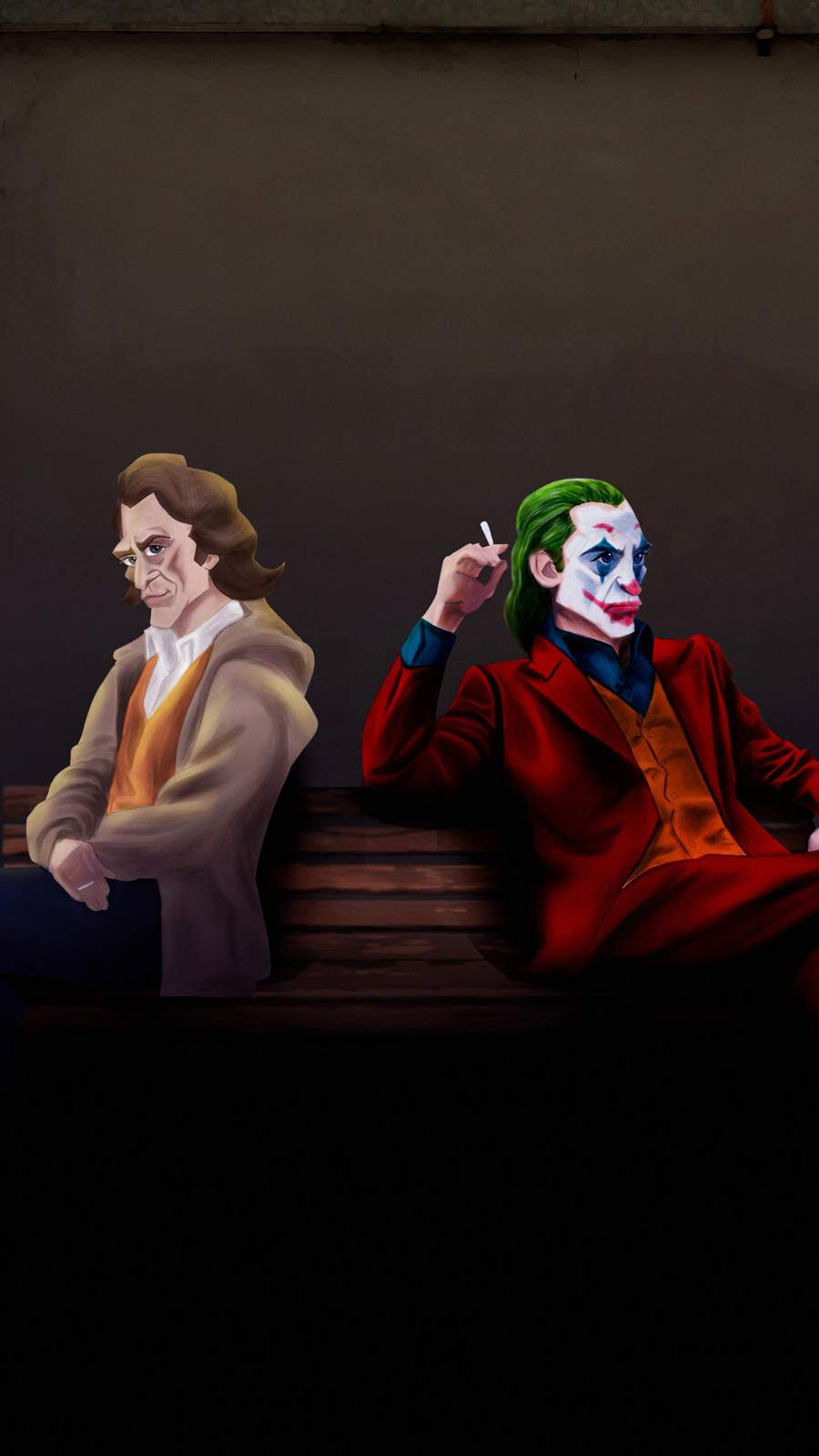 Arthur and Evil Joker iPhone Wallpaper