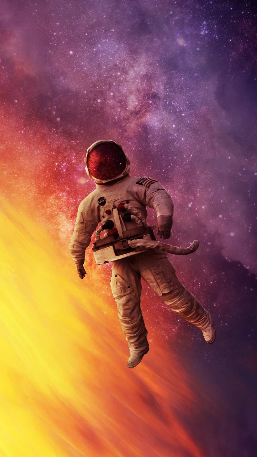 Astronaut Stranded iPhone Wallpaper