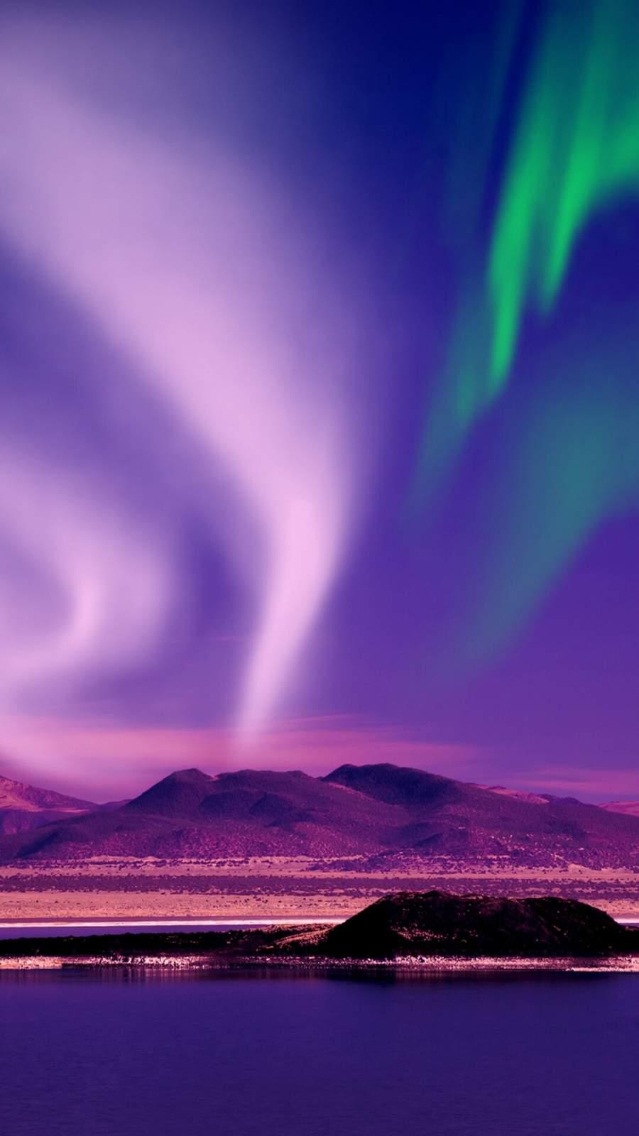 Aurora Borealis Beautiful View iPhone Wallpaper