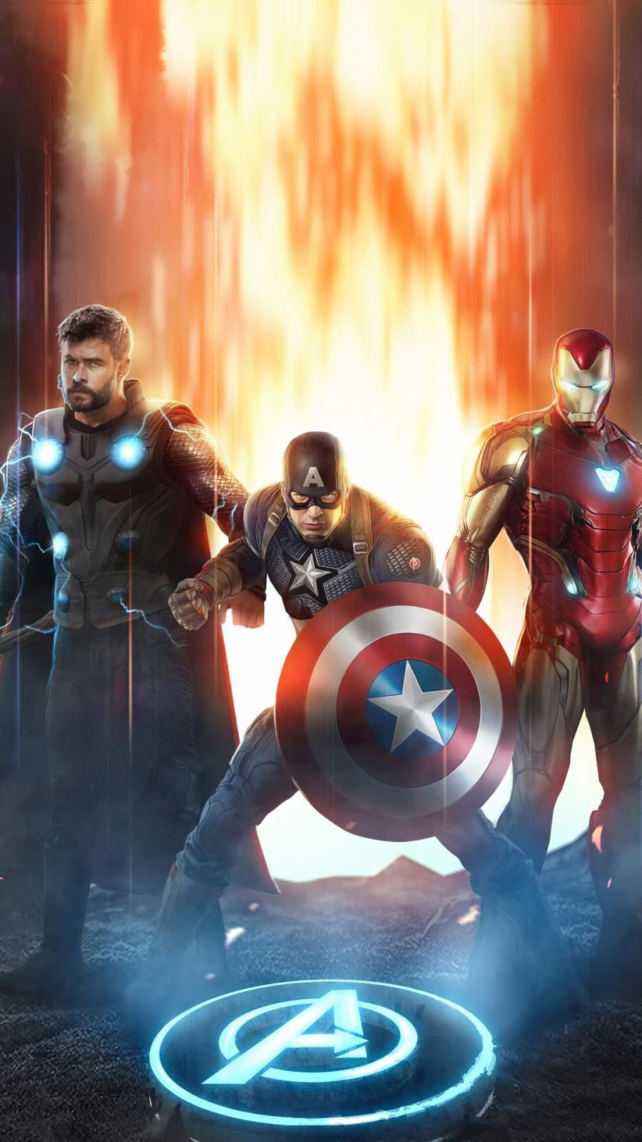 Avengers Trinity iPhone Wallpaper