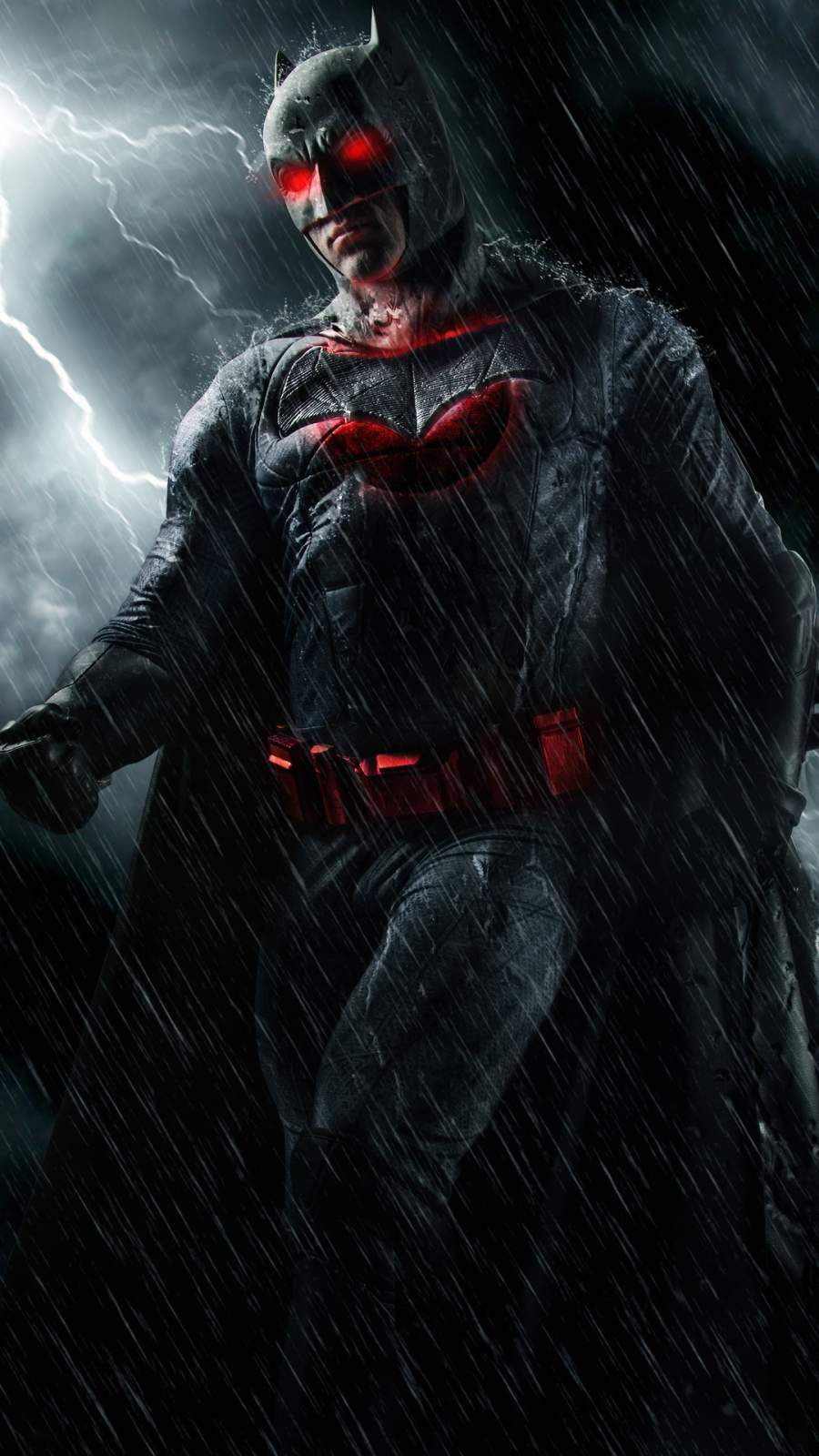Batman Red Eyes iPhone Wallpaper