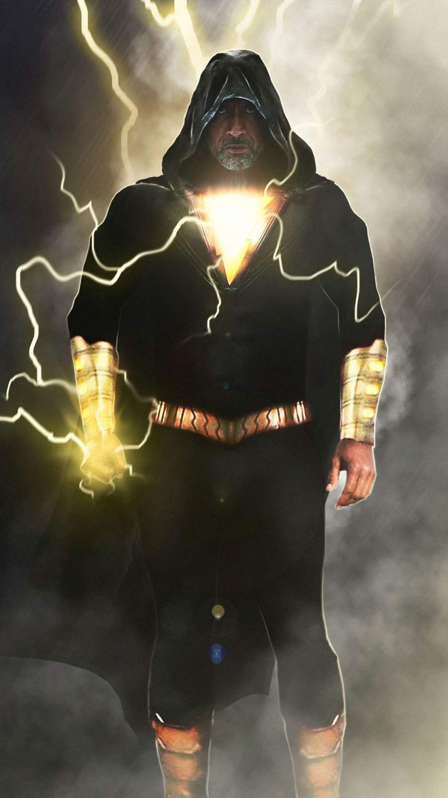 Black Adam The Rock iPhone Wallpaper