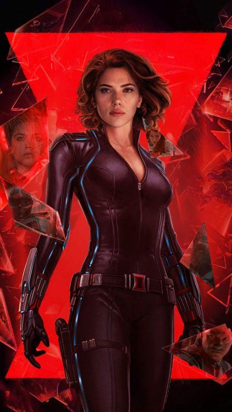 Black Widow Movie Art iPhone Wallpaper 1