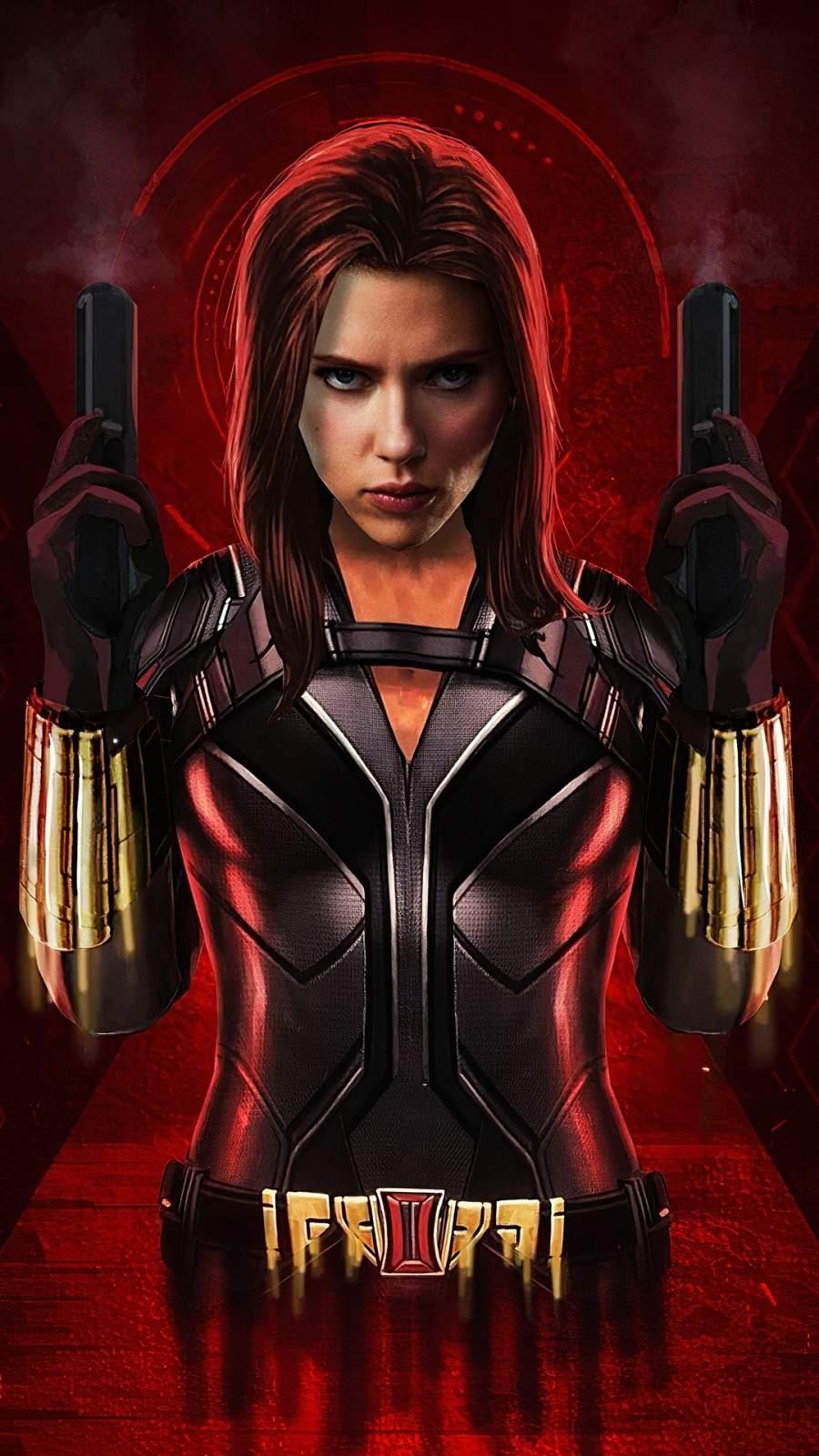 Black Widow Movie Art iPhone Wallpaper