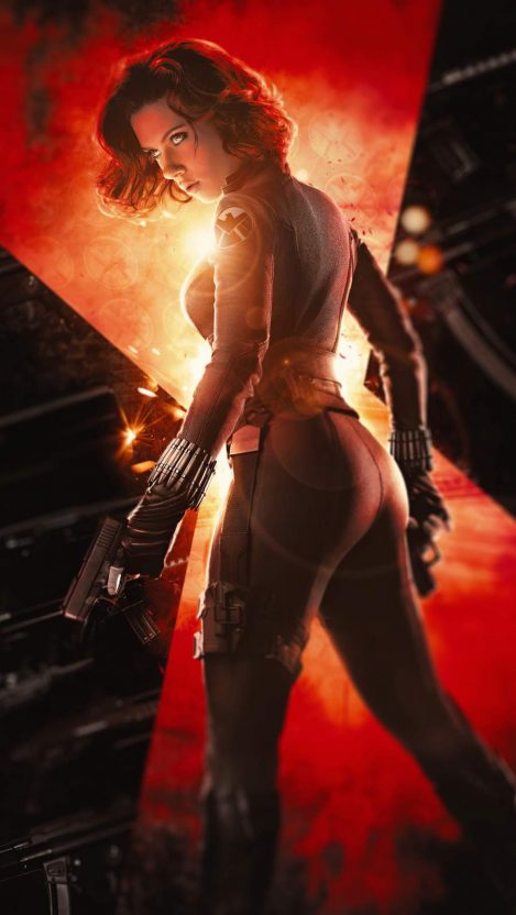 Black Widow Natasha iPhone Wallpaper
