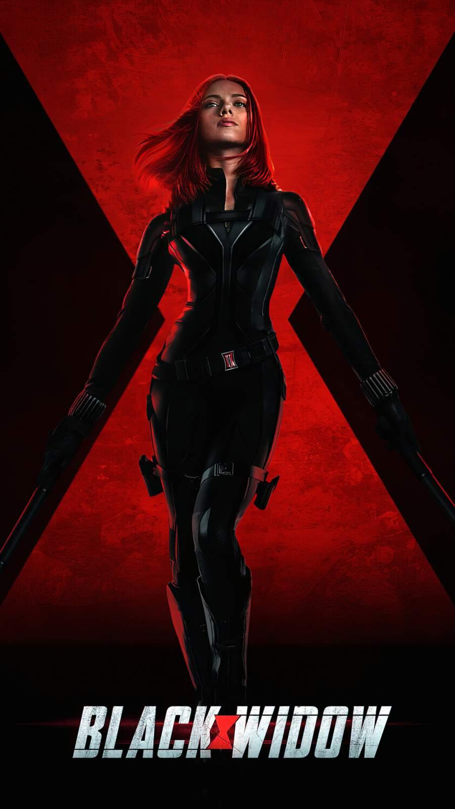 Black Widow Poster iPhone Wallpaper