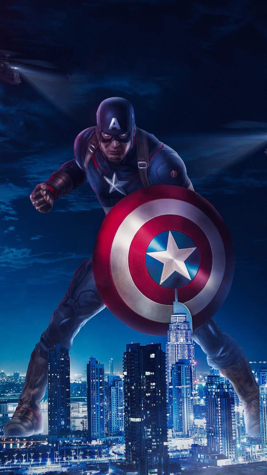 Captain America 2020 Art iPhone Wallpaper