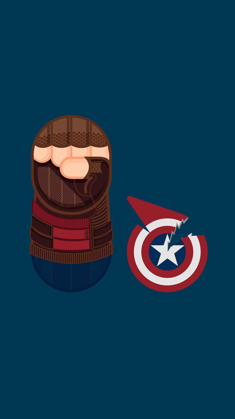 Captain America Marvel iPhone Wallpaper