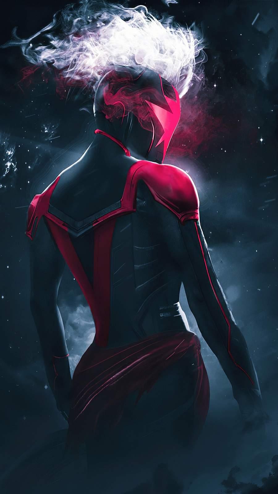 Captain Marvel Concept Art iPhone Wallpaper