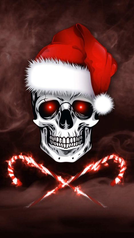 Christmas Skull iPhone Wallpaper