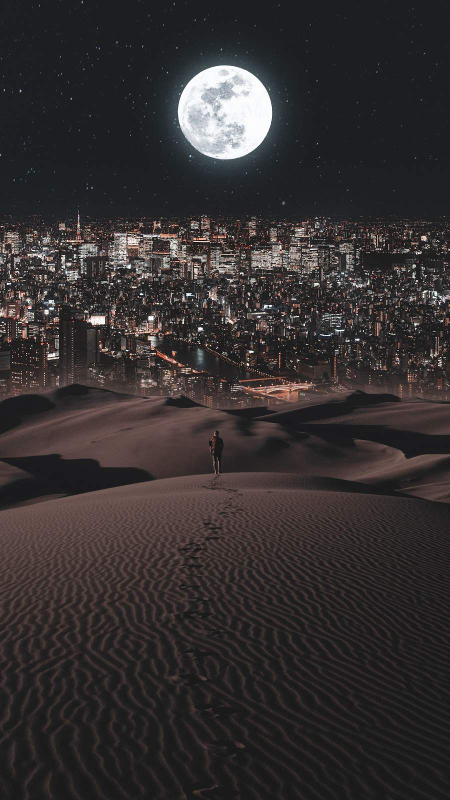City in Desert iPhone Wallpaper