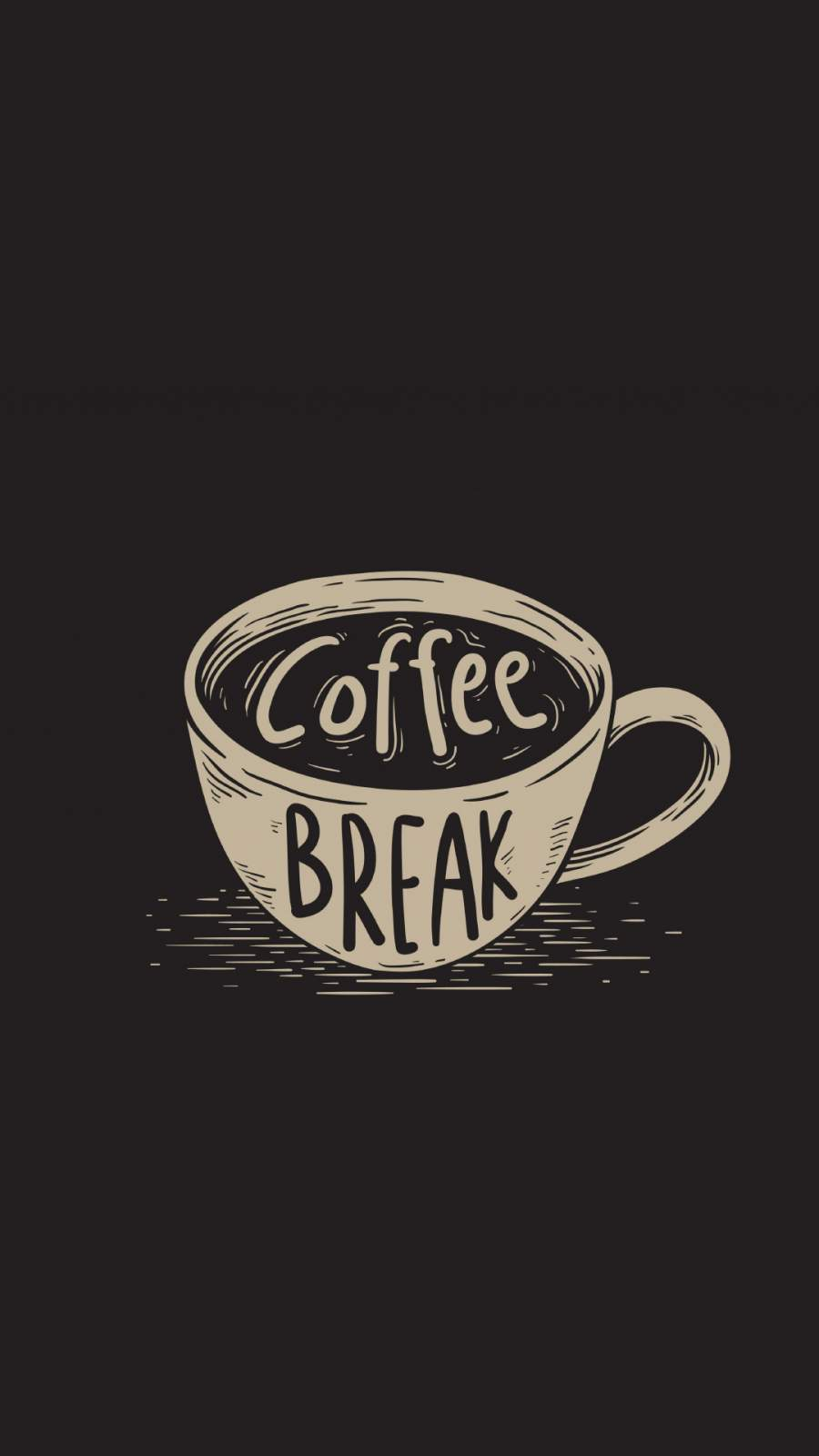 Coffee Break iPhone Wallpaper