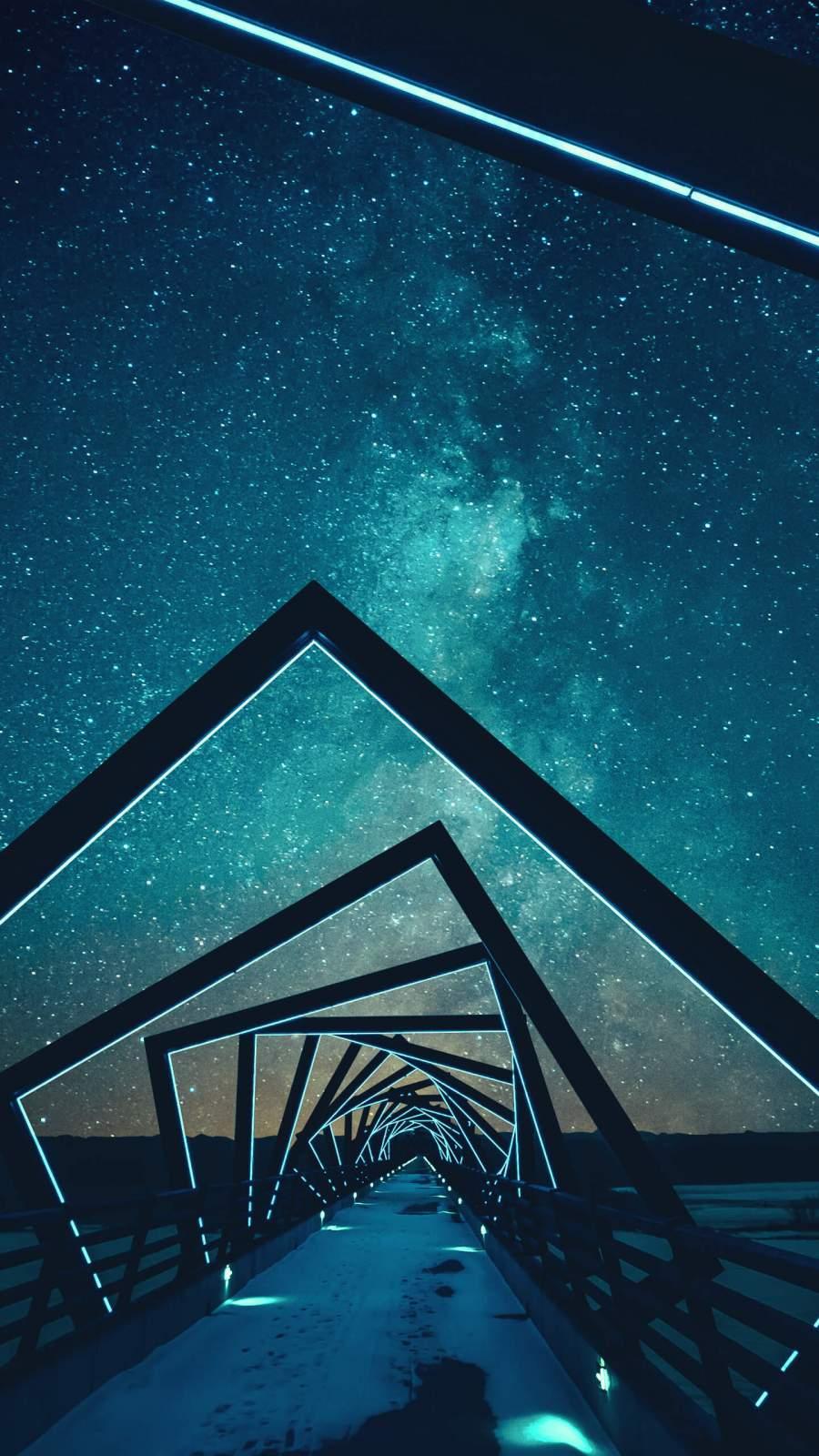 Deep Blue Sky iPhone Wallpaper