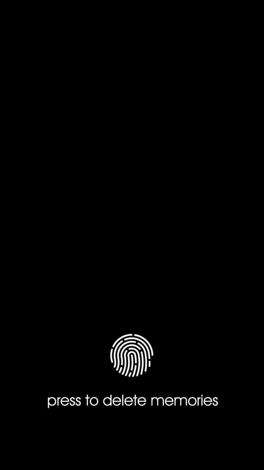 Delete Memories iPhone Wallpaper