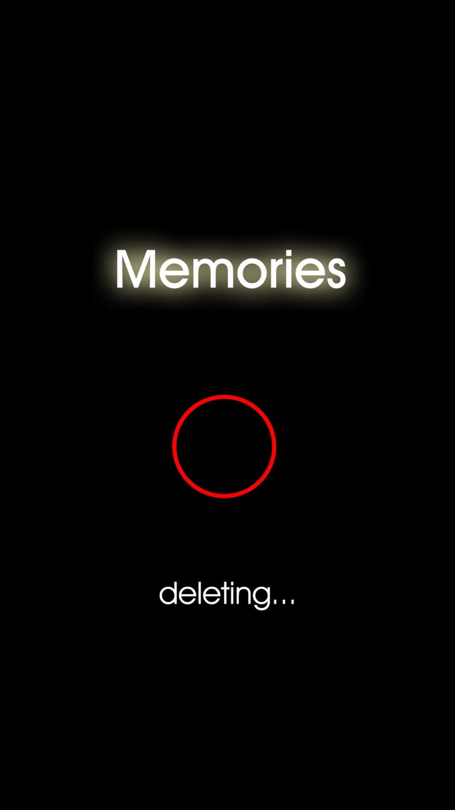 Deleting Memories iPhone Wallpaper