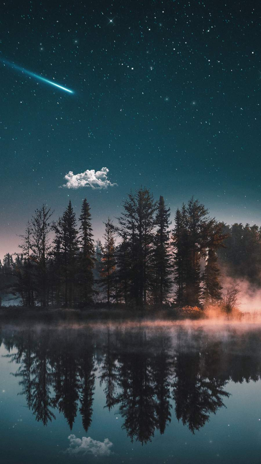 Dreamy Lake iPhone Wallpaper
