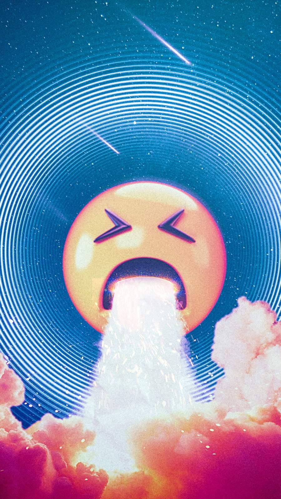 Emoji Vomit iPhone Wallpaper