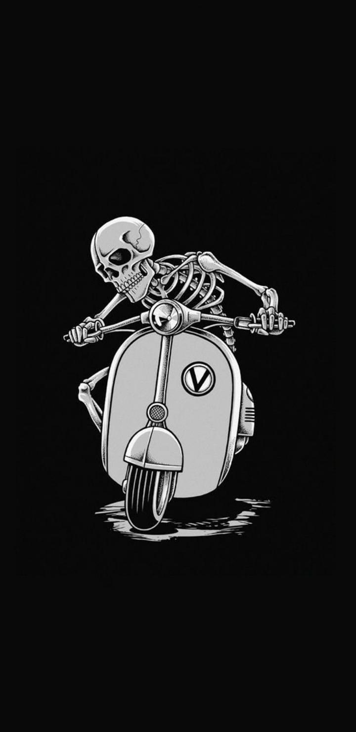 Funny Skull iPhone Wallpaper