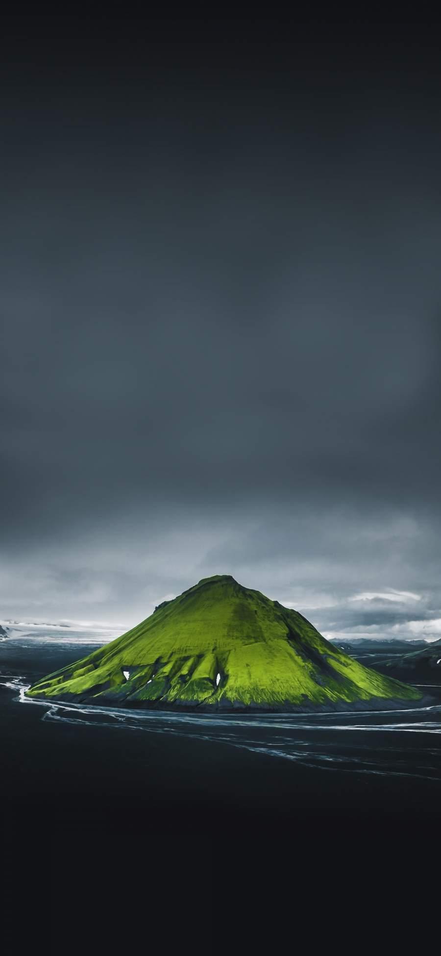 Green Mountain iPhone Wallpaper